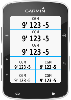 xDrip+/Spike Datafield | Garmin Connect IQ
