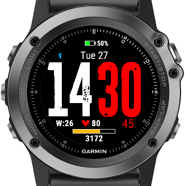 Very Simple Watch Face (VSWF) | Garmin Connect IQ