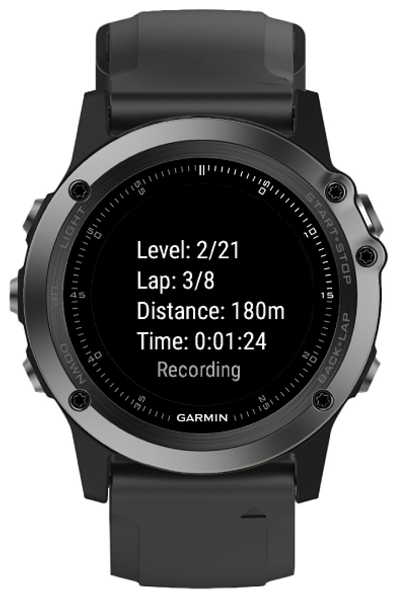 Beep Test Garmin Connect Iq