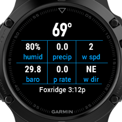 WU Weather Widget | Garmin Connect IQ
