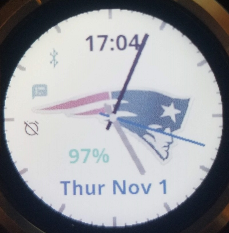 New England Patriots Simple Watch Face | Garmin Connect IQ